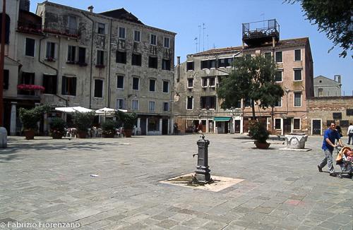Venice Jewish ghetto - main square - piazza centrale