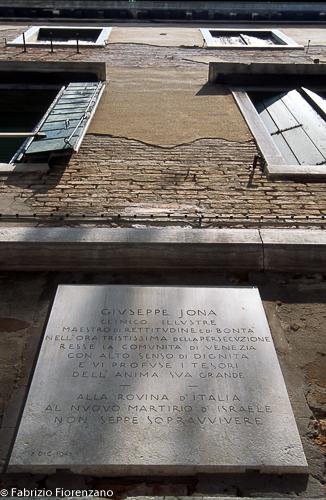 Venice Jewish ghetto - Monument to Giuseppe Jona- Monumeto a Giuseppe Jona
