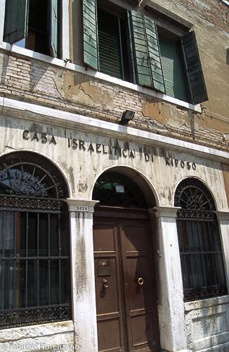 Venice Jewish ghetto  - the old israelitic hospice - casa israelitica di riposo
