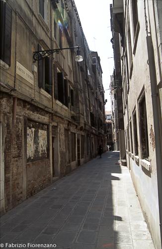 Venice Jewish ghetto  - old gheto street - via di ghetto vecchio