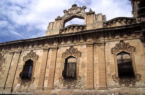 Monastero del s.s salvatore Back side. View from Piazza immacolata